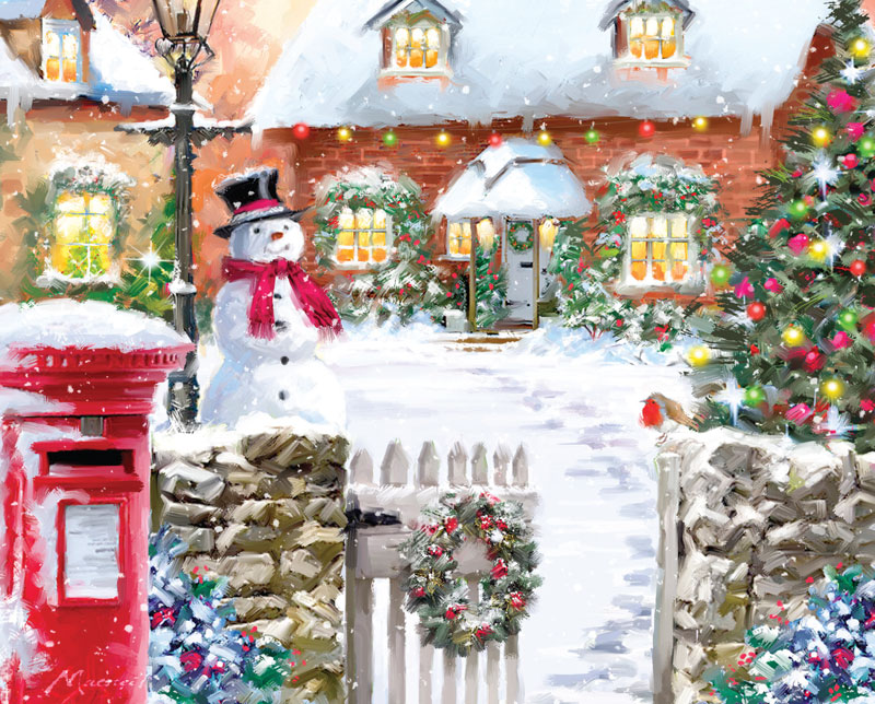 Christmas Cottage Puzzle Jigsaw Puzzles