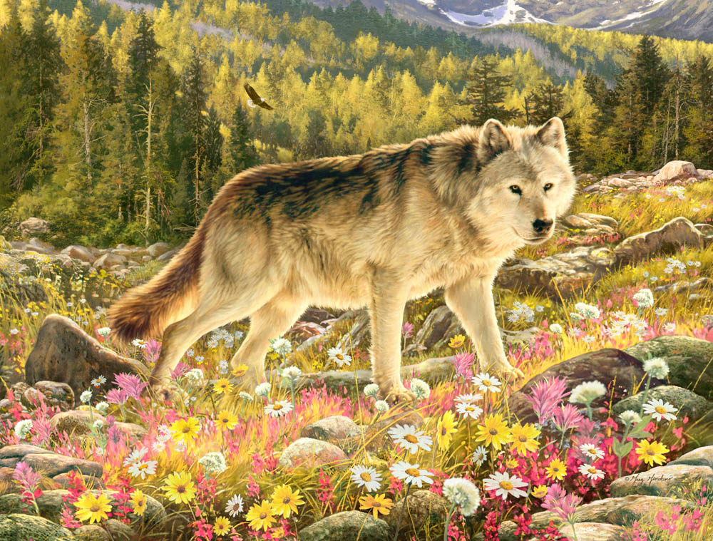 Lone Wolf Puzzle Jigsaw Puzzles