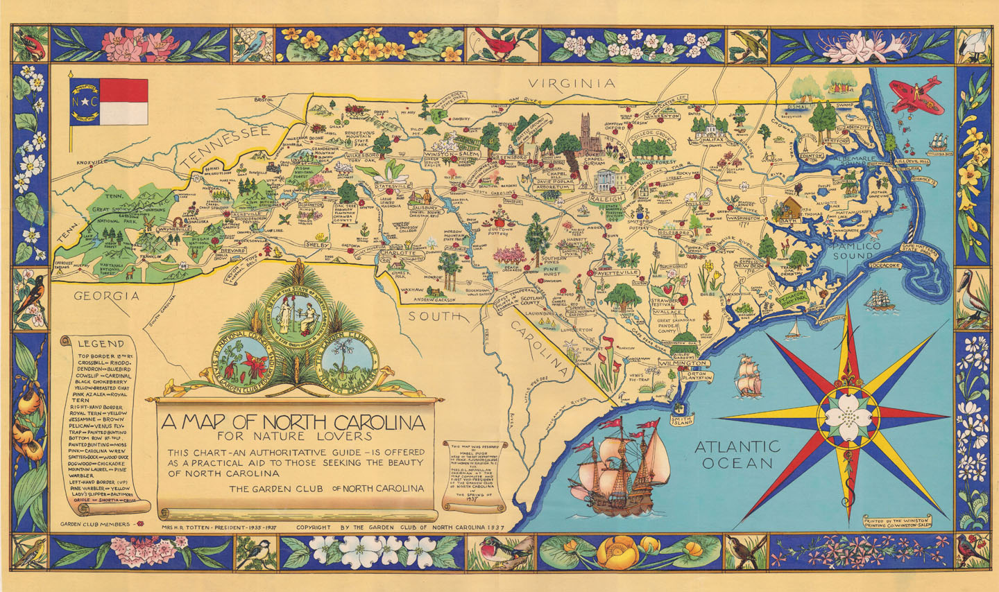 A Map Of North Carolina For Nature Lovers