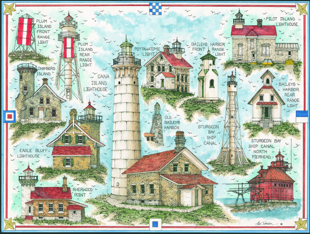 10518 Lighthouses of Door County