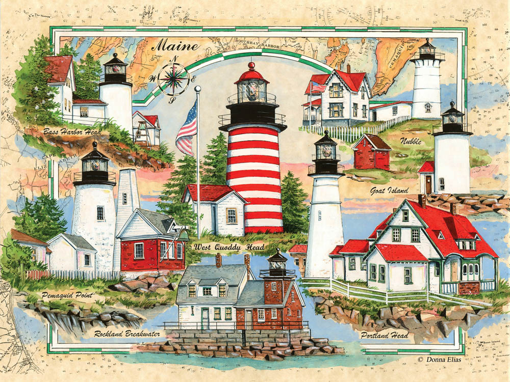 10530 Lighthouses of Maine