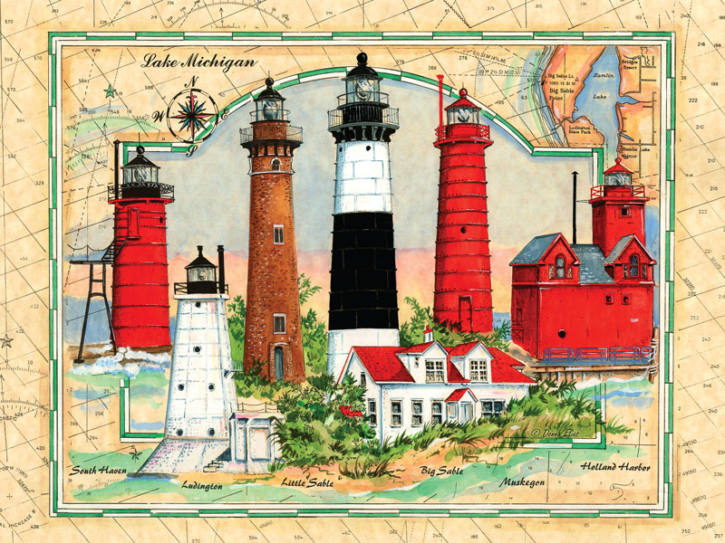 10534 Lighthouses of Michigan