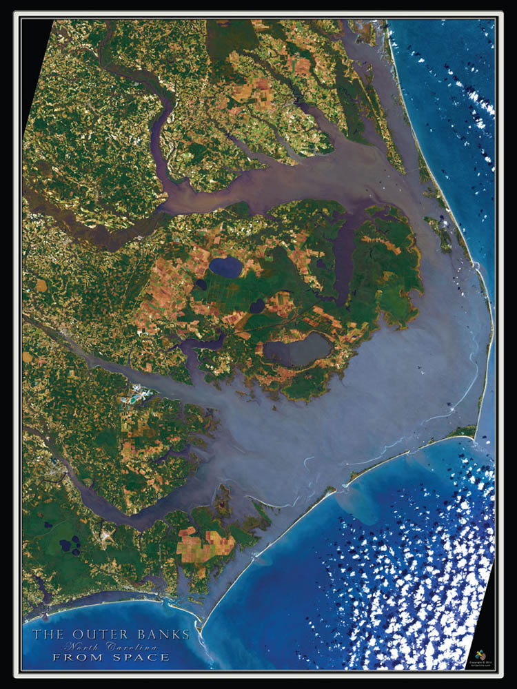 20601 The Outer Banks NC From Space